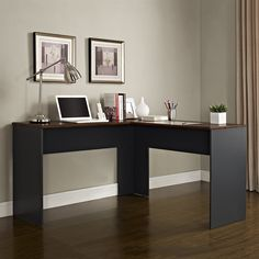 Shop Altra Furniture  The Works Contemporary L Desk with Hutch at ATG Stores…