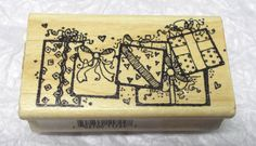 Holidays gifts presents rubber stamp  Package border H24 Hooks Lines & Inkers #HooksLinesInkers #OccasionsBirthdays
