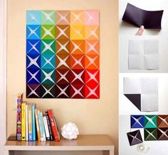 Easy Paper Tiles DIY Projects / UsefulDIY.com (diy,diy projects,diy craft,handmade,paper tiles)