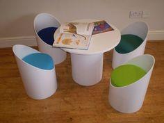 Readymade Ecoseatz and Table  Könnte man aus Papprollen selber machen, oder?