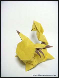2 Pikachu Origami Diagrams