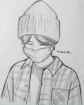 Meine Skizzenbuchkunst I Dreamy Blindfolded Drawing Guy I Cute Sketch I Sketchy Art . Art Drawings Sketches Simple, Anime Drawings Sketches, Kpop Drawings, Pencil Art Drawings, Anime Sketch, Sketch Drawing, Korean Art, Art Sketchbook, Cartoon Art