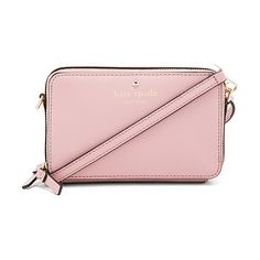 Carine crossbody by Kate Spade New York. Leather exterior with jacquard fabric lining. Double zip around closures. Interior card and bill slots. Interior ID s...