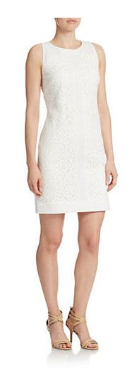 Vince Camuto White Shift Dress - on #sale 47% off @ #Lord&Taylor  #VinceCamuto