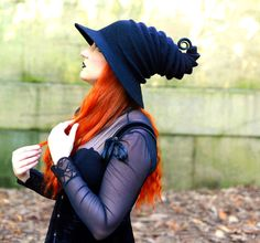 Black Witch Hat. Wizard Hat. Felt Hat. Cosplay von HandiCraftKate
