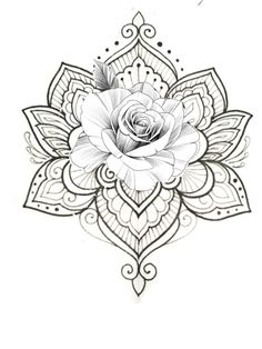 White background Tattoo for man and woman Mandala Tattoo – Fashion Tattoos Rose Tattoos, Body Art Tattoos, New Tattoos, Tattoos For Guys, Tattoos For Women, Sleeve Tattoos, Henna Tattoos, Paisley Tattoos, Tatoos