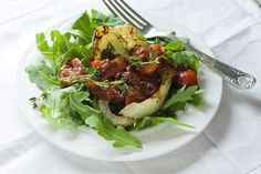 Fennel and Arugula Salad with Hot Tomato Dressing