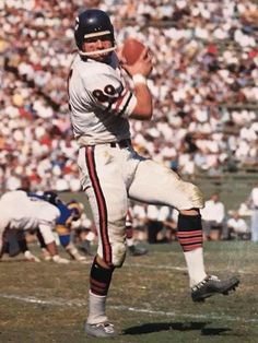 Tight end Mike Ditka hauls in a pass for the Bears Football America, Nfl Football Teams, Bears Football, Watch Football, Football Photos, Sports Photos, School Football, Nfl Bears, Nfl Chicago Bears