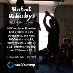 Try out this rowing workout and see where it takes you. #rowing #worldrowing #fitness Rowing Workout, Wednesday Workout, The Row, Workouts, It Is Finished, World, Fitness, Body Sculpting Workouts, Exercise Workouts