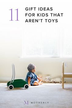 We got creative with 11 gift ideas for children that AREN'T toys. We love that these presents keep the living spaces clear and teach children valuable, fun lessons!