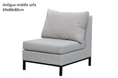Antigua middle sofa - grey