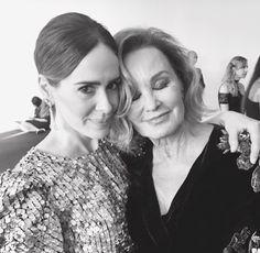 Jessica Lange and Sarah Paulson, Emmy 2016