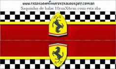 Ferrari: Imprimibles y Etiquetas para Candy Bar, para Imprimir Gratis.