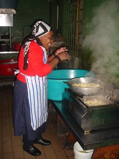 I sneaked into the kitchen of this restaurant in Bo-Kaap, Cape Town, South Africa.