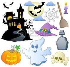 fantome dessin: Thème de l'Halloween collection 1 illustration