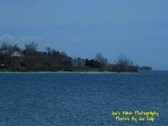 Picturesque scenery of Lake Ontario akong the beaches in Cobourg Ontario