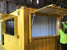Shipping Container Kitchen in Melbourne | ContainerSpace Small Shipping Containers, Shipping Container Office, Shipping Container Design, Container Coffee Shop, Container Cafe, Places In Melbourne, Chalet Design, Garage Apartment Plans, Outdoor Storage Sheds