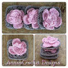 Annoo's Crochet World: Shabby Chic Rose Granny Free Pattern