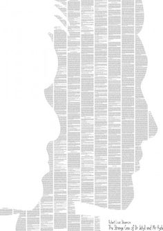 It's a poster with the entire text of 'The Strange Case of Dr Jekyll and Mr Hyde' by Robert Louis Stevenson