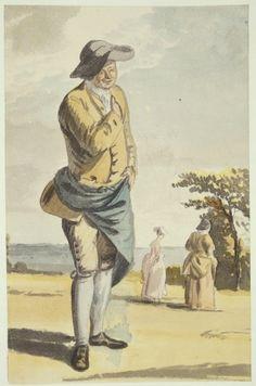 Paul Sandby (1731-1809) Bob Nunn, one of the Duke's gardeners at the Great Lodge  circa 1752circa 1765  Pencil and watercolour | 23.6 x 15.3 cm (sheet of paper) | RCIN 914318