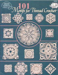 Crochet motifs for thread crochet Crochet Squares, Crochet Motif Patterns, Crochet Blocks, Crochet Diagram, Crochet Chart, Thread Crochet, Love Crochet, Filet Crochet, Irish Crochet