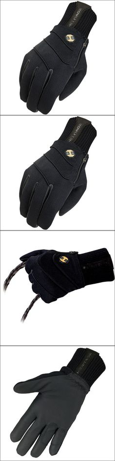 Riding Gloves 95104: 12 Size Heritage Extreme Winter Horse Riding Equestrian Gloves Black -> BUY IT NOW ONLY: $41.95 on eBay!
