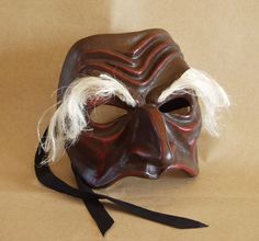 Commedia dellArte mask in papier maché: Pantalon de Bisognosi