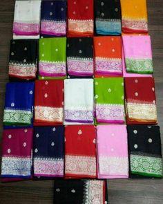 Handllom banarasi pure chiffon khaddi chiffon saree with blouse fabric . Benarsi Saree, Silk Saree Banarasi, Dhakai Jamdani Saree, Pure Silk Sarees, Saree Dress, Georgette Sarees, Saree Blouse, Anarkali, Cotton Saree Designs