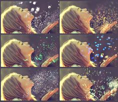 Glitter Effect Photo Overlays: Glitter Effect Photo Overlays, Blowing Glitter Photoshop Overlays, Confetti Photo layer, fairy dust, bokeh effect, bokeh overlays