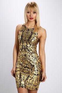 Metallic Tapestry Dress
