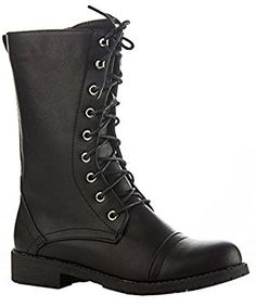 Amazon.com | ROF Women's Lug Heel Ankle to Mid Calf Zipper Closure Combat Military Motorcycle Boots with Hidden Pocket | Ankle & Bootie