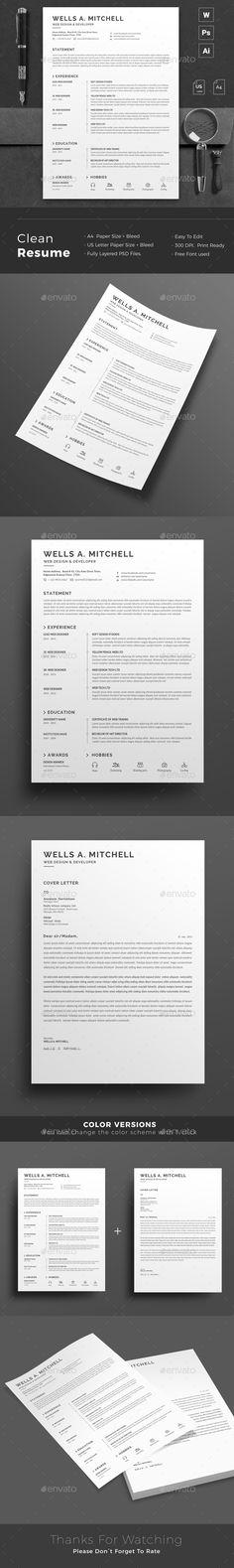 28 best Resume Templates images on Pinterest Cv template, Resume