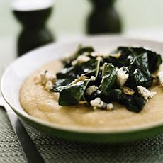 Polenta with Blue Cheese and Garlicky Chard Recipe