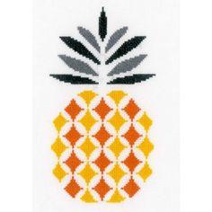 Borduurpakket van een ananas, modern weergegeven.