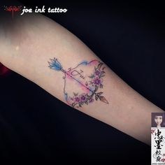 Let It Be Tattoo, Watercolor Arrow Tattoo, Sagittarius, Tattoo Inspiration, Tatting, Piercings, Bows, Create, Ideas