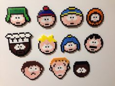 South Park perler pixel magnets by IMeltBeads