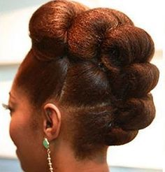 50 wonderful protective styles for Afro-textured hair - Hair Style 2019 Pelo Natural, Natural Hair Updo, Natural Hair Care, Natural Updo Hairstyles, Amazing Hairstyles, Dreadlock Hairstyles, Elegant Hairstyles, Weave Hairstyles, Pretty Hairstyles