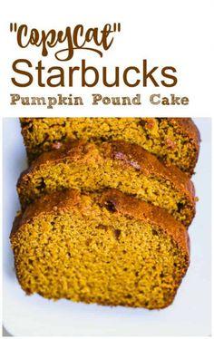 """""""CopyCat"""" Starbucks Pumpkin Pound Cake cake baking Best Picture For pumpkin chocolate chip cookies For Pumpkin Recipes, Fall Recipes, Dog Recipes, Starbucks Pumpkin Bread, Starbucks Pumpkin Pound Cake Recipe, Pumkin Bread, Pumpkin Loaf, Vegan Pumpkin, Pumpkin Puree"""