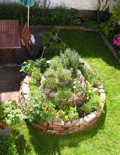 herb spiral, garden, green