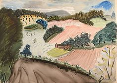 Milton Avery, Untitled (Small Farm)/ 1937. Double-sided watercolor on paper, 22 x 30 inches. Collection of The Milton and Sally Avery Arts Foundation. ©