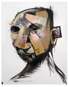 Adam Neate - Self portrait (white). #adam_neate http://www.widewalls.ch/artist/adam-neate/