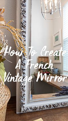 Dark Furniture, Funky Furniture, Refurbished Furniture, Paint Furniture, Furniture Makeover, Chalk Paint Mirror, Mirror Painting, Chalk Painting, Boston Street