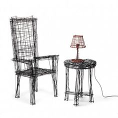 Furniture that looks like line drawings  by Jinil Park