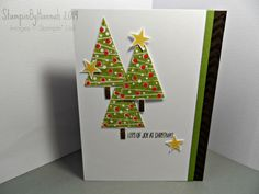 Stampin' Up! festival of trees - get more Christmas Card ideas - visit www.stampinbyhannah.co.uk