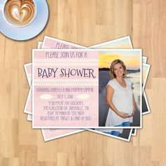 Baby Shower 5x7  Photo Card | Instant Download | Photo Baby Card | PSD File | Printable