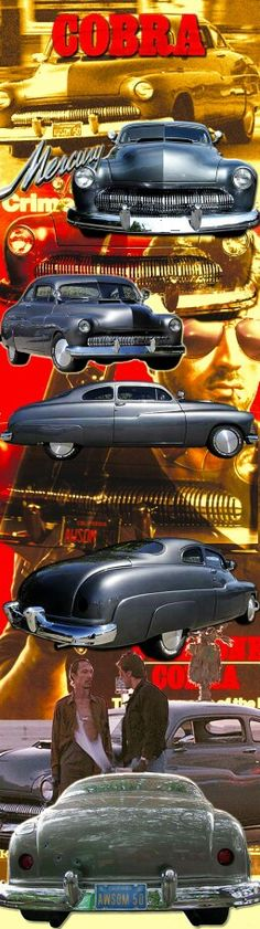 The 1950 Mercury was used in 86's Stallone movie Cobra. Terrible cheesy movie but a great car. The 50's Mercury was his LAPD Zombie Squad ride with license plate AWSOM 50.The hood was double-scooped and a 383 Chevy small-block and nitrous injected 4-barrel Holley carb and a Weiand 144 supercharger. Built by Eddie Paul EP Industires for the movie...old school but awesome.