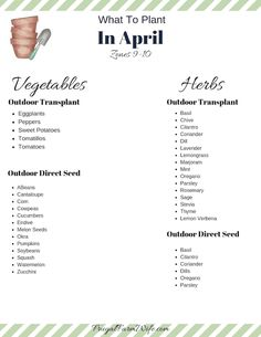 what to plant in April in zones art design landspacing to plant When To Plant Vegetables, Planting Vegetables, Vegetable Gardening, Growing Vegetables, When To Plant Strawberries, Plant Zones, Gardening Zones, Victory Garden, Garden Planner