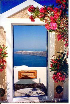 View To The Aegean Sea, Santorini, Greece