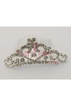 Rhinestone Small Tiara Birthday Dresses, Girls Accessories, Jewelry, Fashion, Moda, Jewlery, Bijoux, Fashion Styles, Schmuck