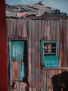 On Thursday, we visited The Red Location Museum. The museum is named after the corrugated iron barracks and shacks that the majority of Por. Slums, African Art, Windows And Doors, Old Houses, Surrealism, Special Events, South Africa, Red And Blue, Museum